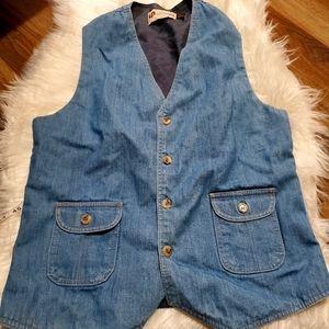 """Vintage levis pantela jean vest 38"""" chest 1970s"""